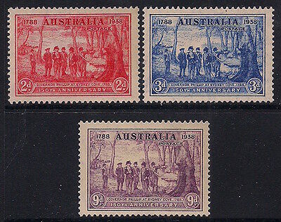 Australia Stamps 1937 2d-9d New South Wales (SG193-195) MNH £38/$50