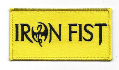 Marvel Comics Iron Fist TV Series Name Logo Embroidered Patch, NEW UNUSED