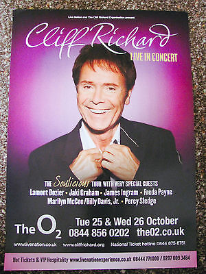 Cliff Richard The Soulicious Tour 2011 London A4 Poster