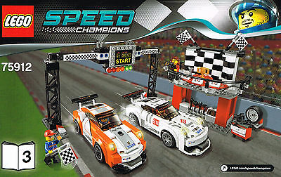LEGO 75912 NEW Instruction Books (3) for Porsche 911 GT Finish Line Speed Manual
