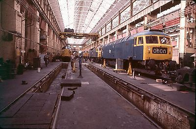 35Mm Colour Slide Railway Stratford Drs Works Class 47 47410 Brush Type 4 1976 A