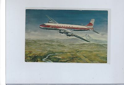 Western Airlines issued DC-6B  postcard