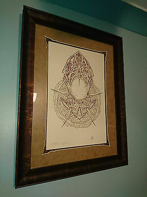 Sideshow Collectibles Death Mask Letterface Framed Art Print