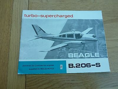 1968 Beagle B.206-S Fold Out Sales Brochure With Optional Price List