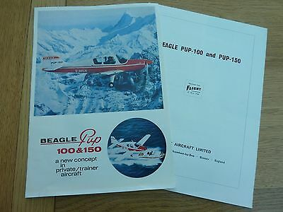 1968 Beagle Pup 100 & 150 Sales Brochure & Flight International Review Magazines