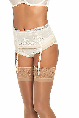 Tutti Rouge Jessica Deep Suspender In Ivory / Nude Size S