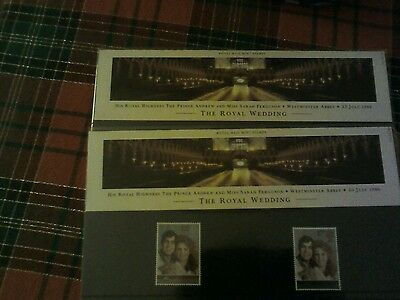 Royal Mail mint stamps x 2 ( Andrew and Sarah Royal Wedding 1986)