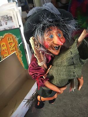 """Nice 12"""" tall Show-Stoppers Inc. """"Whoopie"""" Witch Halloween porcelain doll NWT"""