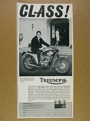 1963 Triumph Motorcycle photo vintage print Ad