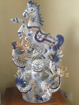 Chinese Dragon Horse Ornament Lamp