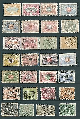 BELGIUM - Mint & Used Railway Parcel stamp collection