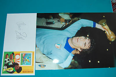 Italy Dino Zoff Signed Envelope 1982 World Cup Win With 12X8 Photo