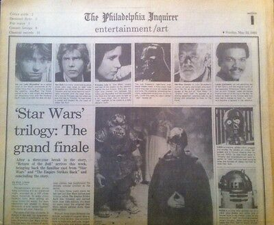 Star Wars PHILA INQUIRER Jedi 1983 Article Ad Rogue One clipping  BARRY MANILOW