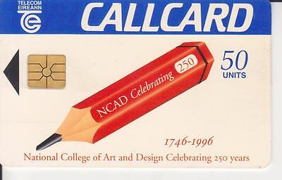 Telecom Eireann Call Card,phone Card,college Of Art And Design,used