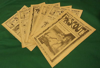 6 Copies of The Scout. 25 Sept -30 Oct 1920. Stories, Sport, Articles. illust.