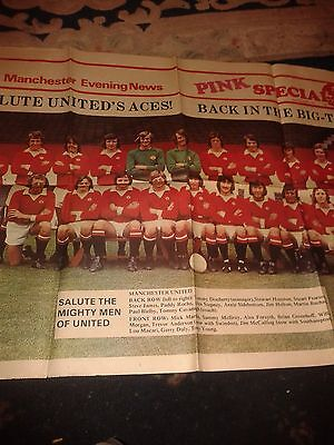 Manchester United Press Cutting April 1975 From The Mcr Evening News