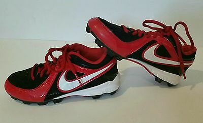 Nike Cleats Boys 1Y Shoes Red Black Youth