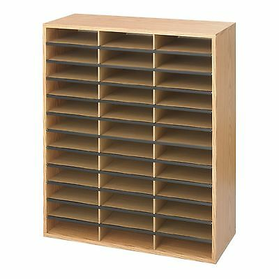 Safco Products 9403MO Literature Organizer Wood/Corrugated, 36 Compartment, Med