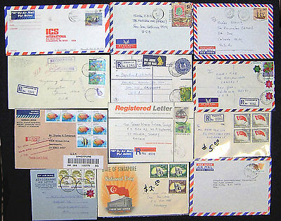Lot of 38 Singapore Postal History Covers.