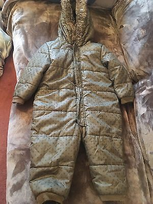 La Redoute Cocooa Children's Snow Suit Age 2Yrs  colour OliveGreen Used Zip up