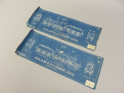 Original Skinley 1:76 plans of Southern Railway T9 and T6