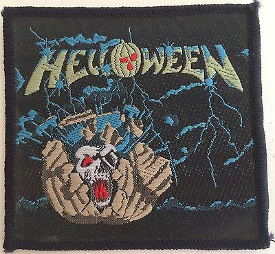 Helloween 'Starlight' Embroidered Sew On Patch 3x3 inches approx 1985