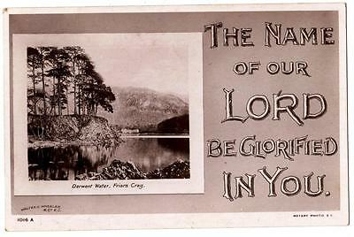 Vintage Rp Pcard,name Of The Lord Be Glorified,rotary,penzance To Brixham,1907