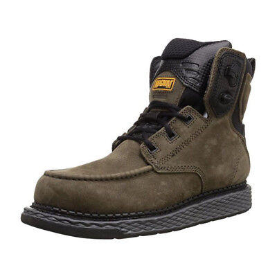 """Magnum Mens Stockton 6"""" Leather Work Boots Charcoal Oil and Slip Resistant 5584"""