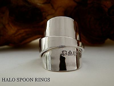 Chunky Ladies Solid Silver Inverted Spoon Ring 1922  * Perfect Valentine Gift *