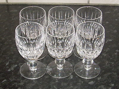 Waterford Crystal X 6 port Sherry Glass.Vintage4.5 inch Perfect Irish cut glass