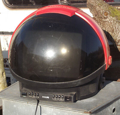 A nice vintage retro phillips discovery space helmet tv television 1980s