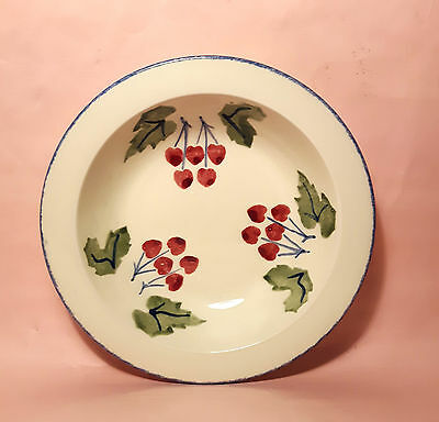Poole Pottery Dorset Fruits Rimmed Bowl - Cherries