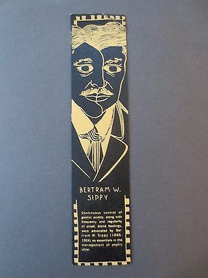 Vintage BOOKMARK BERTRAM W SIPPY Wallace Laboratories New Jersey Pharmaceutical
