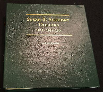 Partial Set. Susan B Anthony Dollars. 1979-1999 Proofs + Unc