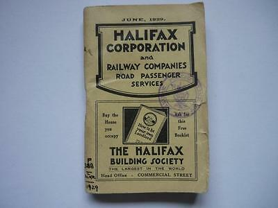 1929 Halifax Corporation Tram  Bus & Railway Services Timetable Guide ABC Style