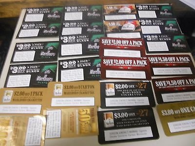 $53.00 Marlboro Cigarette Coupons Most all Big Single Pack Off Coupons