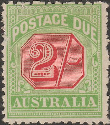 Australia 1909 KEVII Postage Due 2sh Rosine and Yell-Green Unused SG D70 cat £70