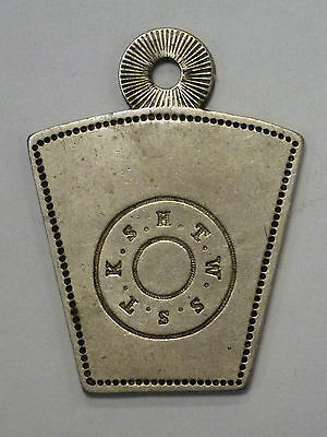 {BJSTAMPS}  Masonic Key Tag Uninscribed  S.H.T.W.S.S.T.K.