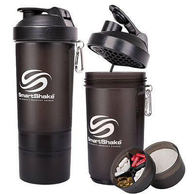 SmartShake Original 27 oz. Gunsmoke Black Shaker Bottle