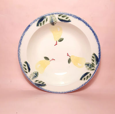 Poole Pottery Dorset Fruits Rimmed Bowl - Pears