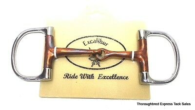 """Excalibur Stainless Steel 4.5"""" Dee  Bit with Copper Mouth Horse Tack Equine 2336"""