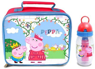 Peppa Pig - Once Upon A Time Lunch Bag & Freeze Stick Bottle - *BRAND NEW*