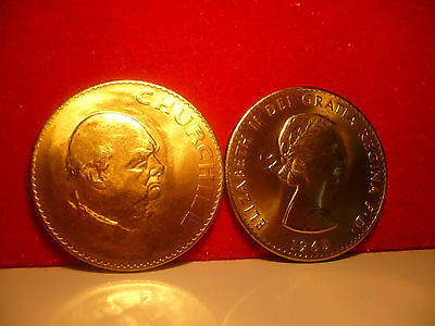 24ct gold finished 1965 Commemorative Crown ~Sir Winston Churchill UNC