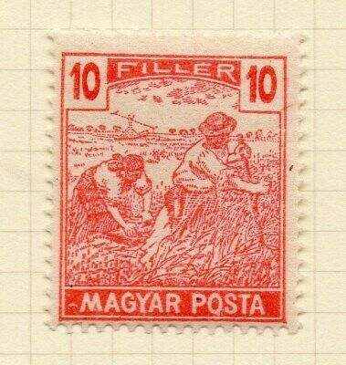 Hungary 1919-20 Early Issue Fine Mint Hinged 10f. Inscribed Magyar Posta 122349