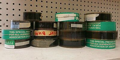 Vintage 35mm cine cel Film movie theater Preview Trailer LOT ASSORTED