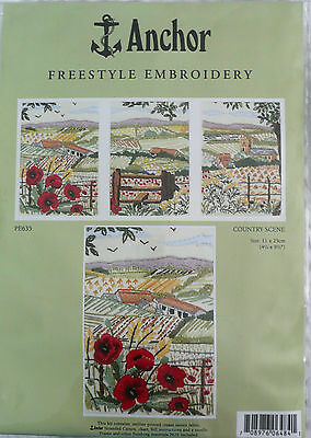 Anchor Freestyle Embroidery Kit 'country Scene'