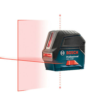 BOSCH Power Tools GCL2-160 Self Leveling Cross Line Laser with Plumb Points