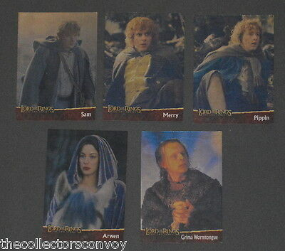 Hobby Japan - Lord of the Rings The Two Towers = 5 FOIL Character card Set