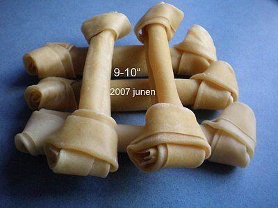 """Extra Large* Top Quality * Rawhide 9-10"""" Knotted Bones  Dog  Chews / Treats"""