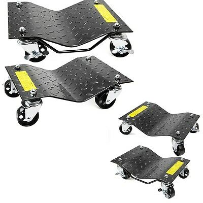 "New 2 pair Auto Dolly Car Dolly Wheel Tire 12""x16"" Skate 6000lb Repair Slide"